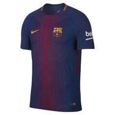 Camisa Jogo Barcelona I 2017/18 Sem Número Nike