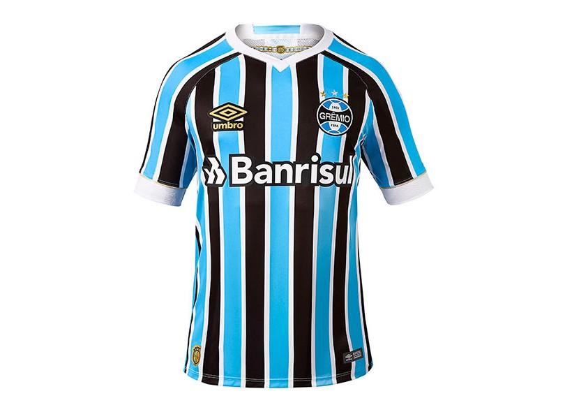 Camisa Grêmio I 2018 19 Sem Número Jogo Masculino Umbro 3d7a5cc90dc2c