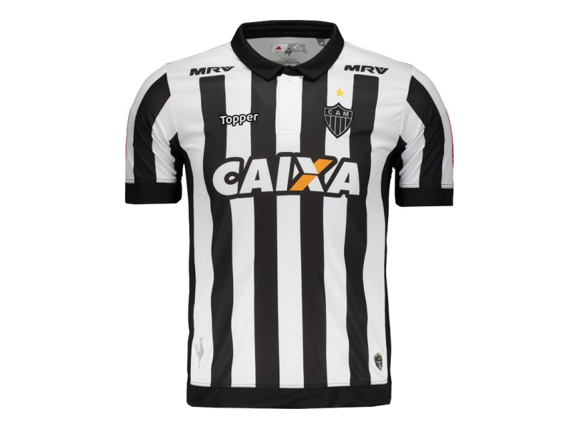 Camisa Atlético Mineiro I 2017 18 sem Número Torcedor Masculino Topper 31cc0164cc46a