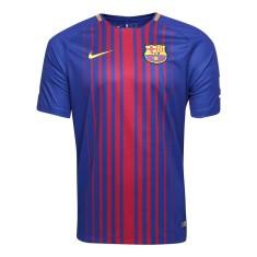 Camisa Torcedor Barcelona I 2017 18 Sem Número Nike 42f9fed785e32