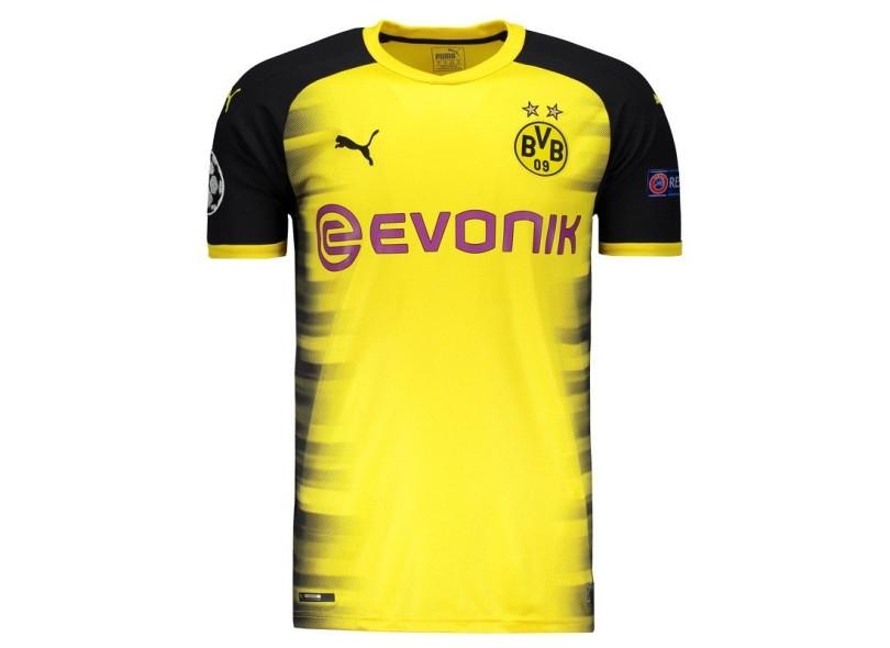 0b51cc60a Camisa Borussia Dortmund III 2017 18 Sem Número Torcedor Masculino Puma
