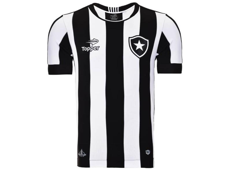 Camisa Botafogo I 2016 sem Número Torcedor Masculino Topper ab469a348bdee