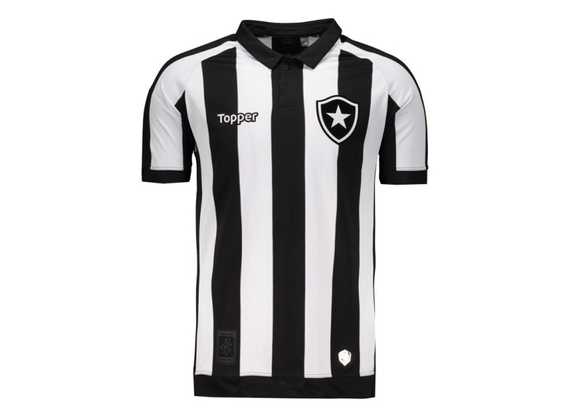 d8e57972b9b82 Camisa Botafogo I 2017 18 Torcedor Masculino Topper