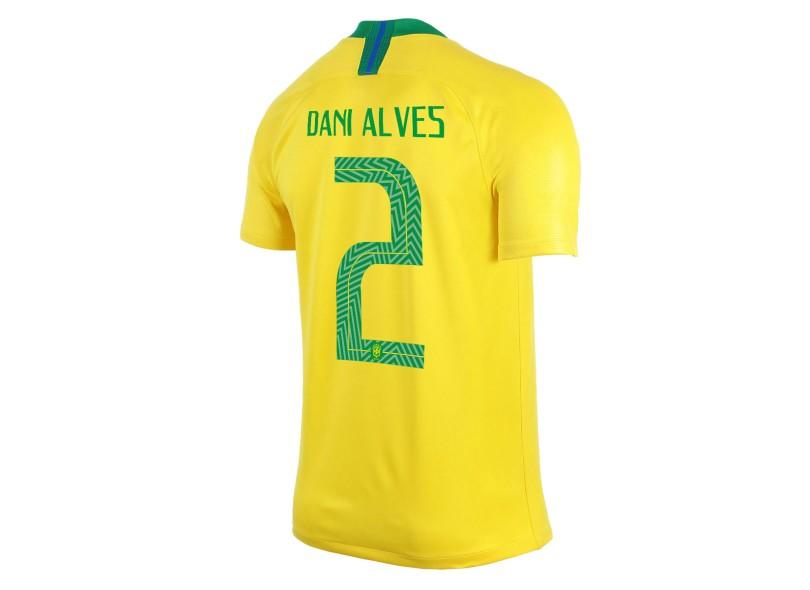 45c92cd02609d Camisa Brasil I 2018 19 com Nome e Número Torcedor Masculino Nike