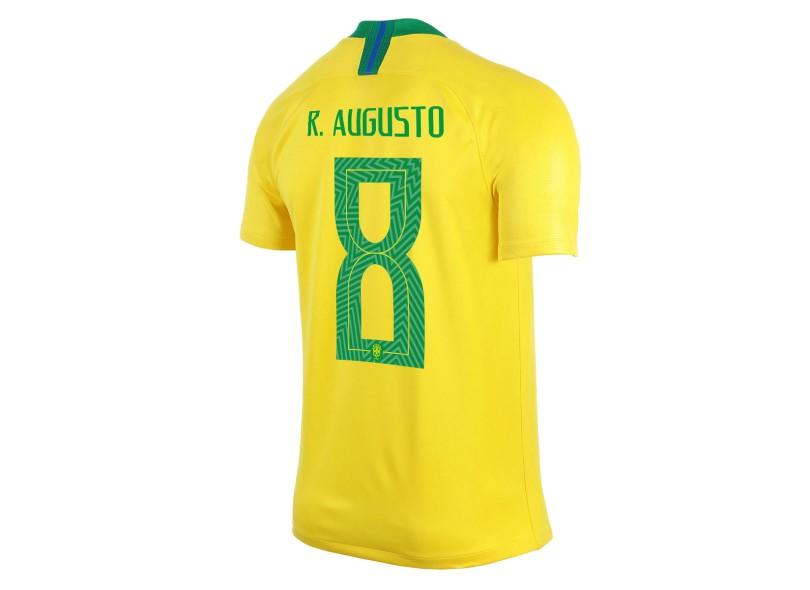 Camisa Brasil I 2018 19 com Nome e Número Torcedor Masculino Nike 17a6711d668c6