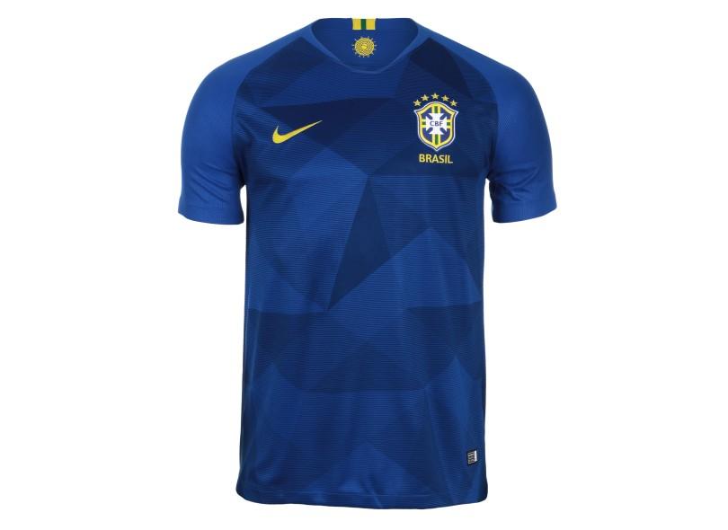 8aa8bb8d7b64a Camisa Brasil II 2018 19 com Nome e Número Torcedor Masculino Nike ...