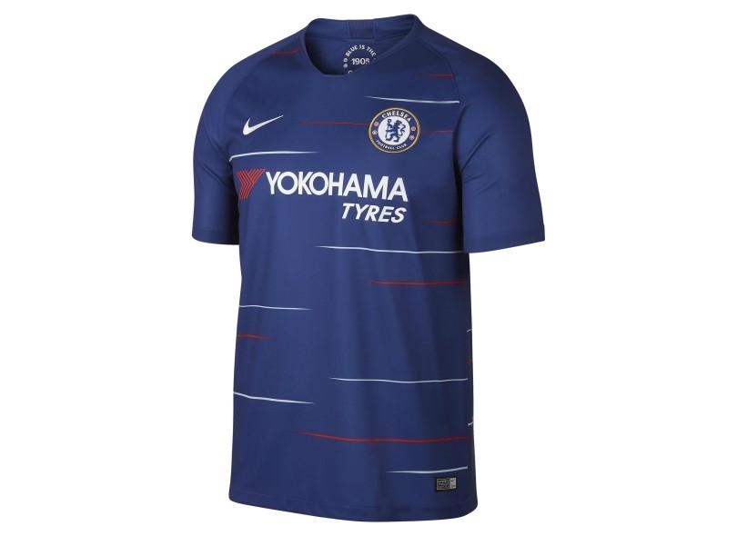 4d30c80db57f3 Camisa Chelsea I 2018 19 sem Número Torcedor Masculino Nike