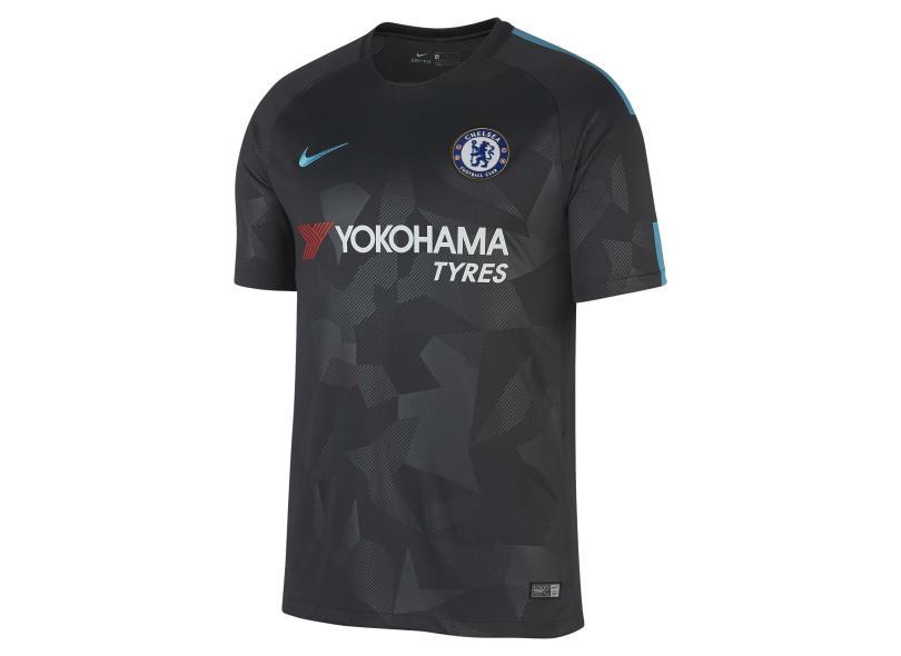 10d10b0444 Camisa Chelsea III 2017 18 Torcedor Masculino Nike