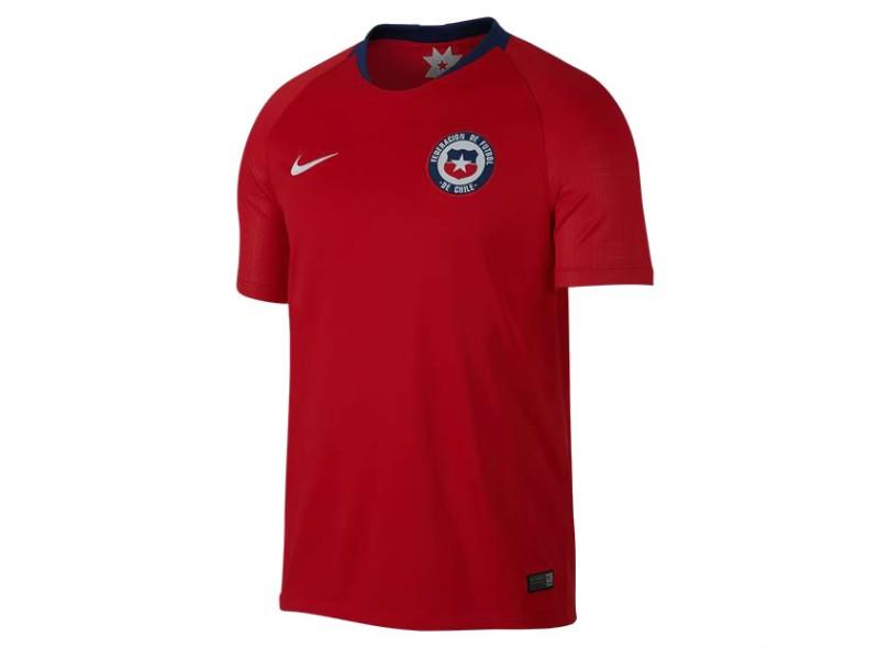Camisa Chile I 2018 19 sem Número Torcedor Masculino Nike c9d56df8ff65c