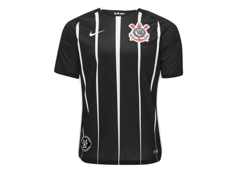 29241dd373 Camisa Corinthians II 2017 18 sem Número Torcedor Masculino Nike