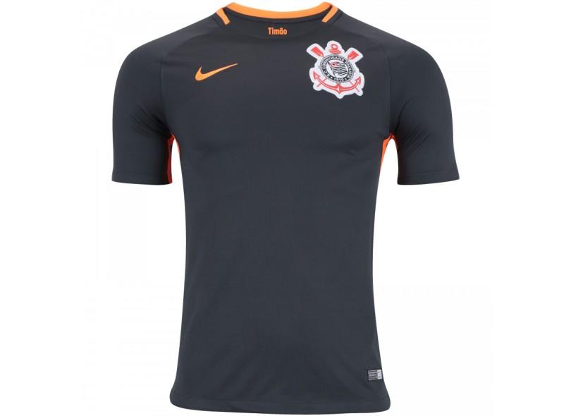 df850b2063 Camisa Corinthians III 2017 18 Sem Número Torcedor Masculino Nike