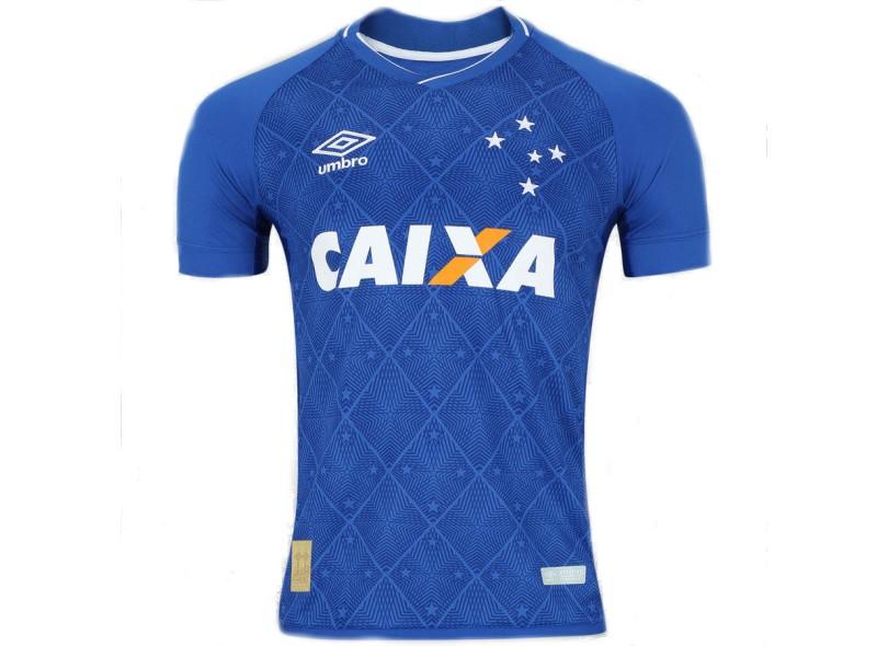 Camisa Cruzeiro I 2017 18 Sem Número Torcedor Masculino Umbro 4da7cfe844f60