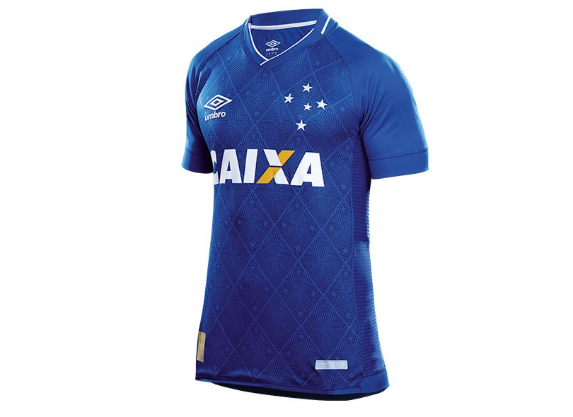 Camisa Cruzeiro I 2017 18 Sem Número Torcedor Masculino Umbro b3aadd59f04c3