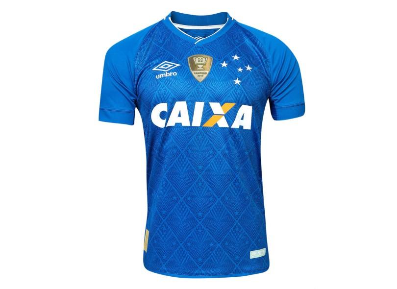 66935ff787 Camisa Cruzeiro I 2017 18 Sem Número Torcedor Masculino Umbro
