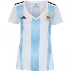 Camisa Torcedor Feminina Argentina I 2018/19 Adidas