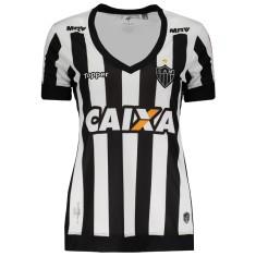 Camisa Torcedor Feminina Atlético Mineiro I 2017 18 Sem Número Topper a9655b403b3b7