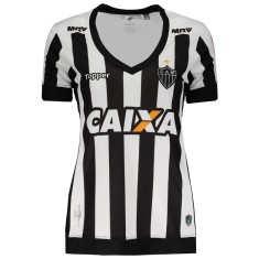 0965aa67f2 Camisa Torcedor Feminina Atlético Mineiro I 2017 18 Sem Número Topper