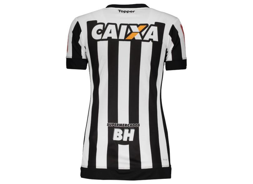 cefad7082e Camisa Feminina Atlético Mineiro I 2017 18 Sem Número Torcedor Feminino  Topper