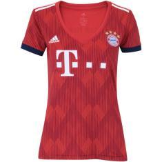 Camisa Torcedor Feminina Bayern de Munique I 2018/19 Adidas