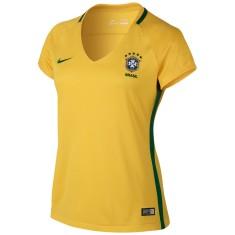 Camisa Torcedor feminina Brasil I 2016 sem Número Nike 2de5e41cd3db8