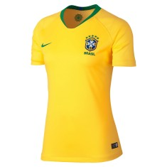 e8b0d45f77 Camisa Torcedor Feminina Brasil I 2018 19 sem Número Nike