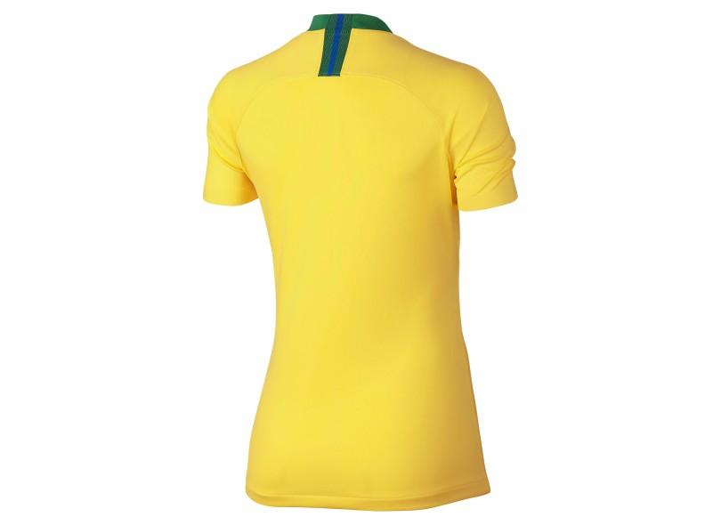 90ff64161 Camisa Feminina Brasil I 2018 19 sem Número Torcedor Feminino Nike