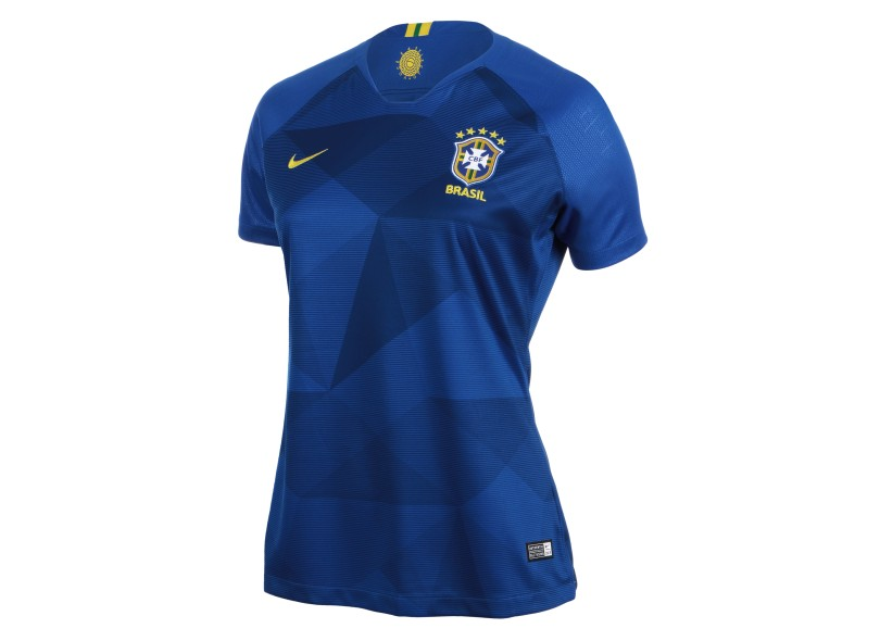 272fa88929 Camisa Feminina Brasil II 2018 19 sem Número Torcedor Feminino Nike