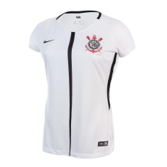 Camisa Torcedor Feminina Corinthians I 2017 18 sem Número Nike b9112c2f04332