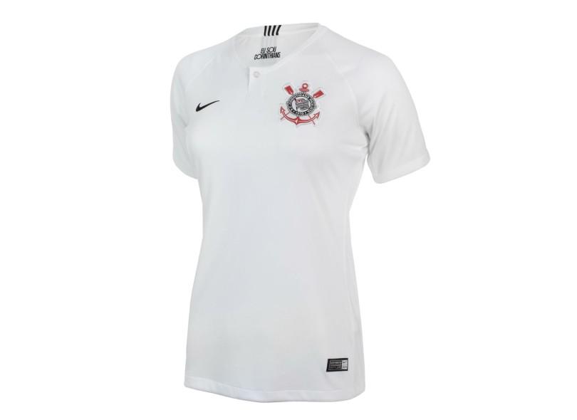 403bde0ef5 Camisa Feminina Corinthians I 2018 19 sem Número Torcedor Feminino Nike