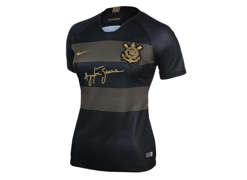 d02fc6a134 Camisa Feminina Corinthians III 2018 19 Torcedor Feminino Nike