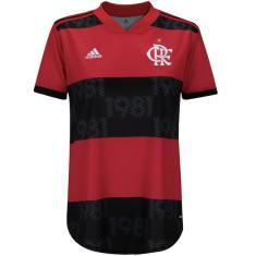 Camisa Torcedor Feminina Flamengo I 2021/22 Adidas