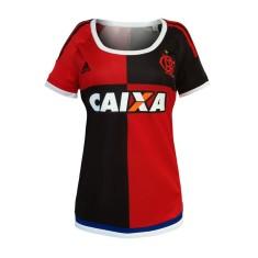 Camisa Torcedor Feminina Flamengo III 2015 Adidas 1debb2c71fc53
