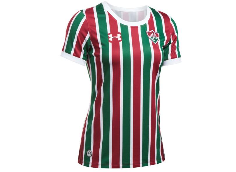 Camisa Feminina Fluminense I 2017 18 Sem Número Torcedor Feminino Under  Armour fbb1a5dc1725a