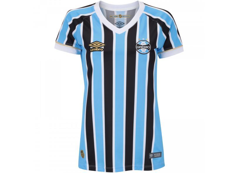 Camisa Feminina Grêmio I 2018 19 Torcedor Feminino Umbro 940cfbd86bcb6