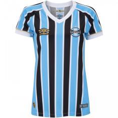 Camisa Torcedor Feminina Grêmio I 2018 19 Umbro f150683a16a68