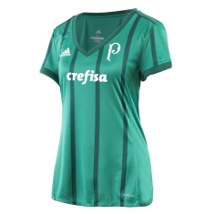 8ffe4f0e98 Camisa Torcedor Feminina Palmeiras I 2017 18 Adidas