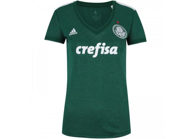 e90ac36664 Camisa Feminina Palmeiras I 2018 19 Torcedor Feminino Adidas