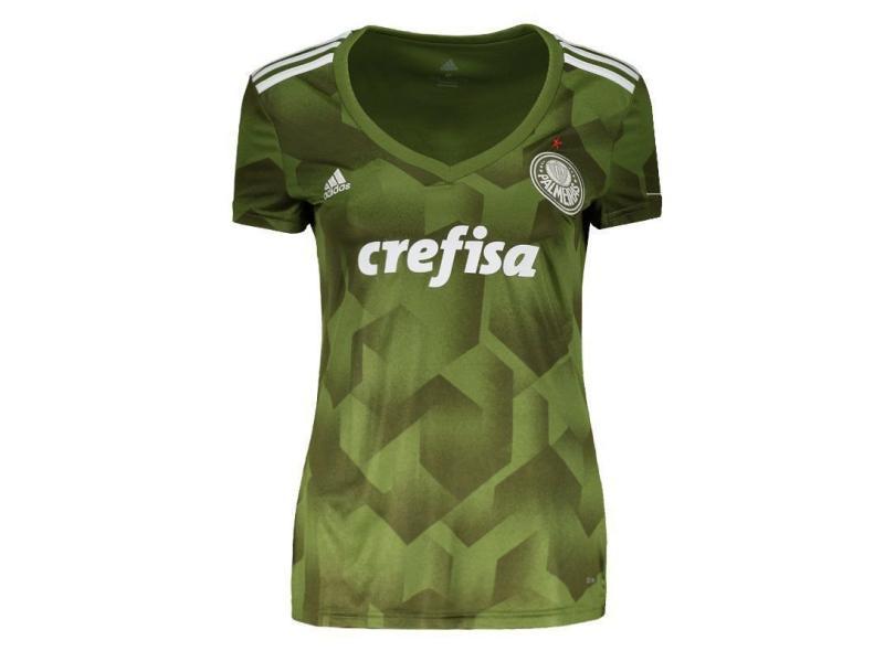 2862b132b7 Camisa Feminina Palmeiras III 2018 19 Torcedor Feminino Adidas