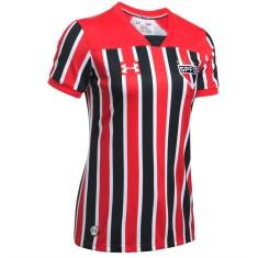d3b038fd65 Camisa Torcedor Feminina São Paulo II 2017 18 Sem Número Under Armour