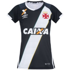 Camisa Torcedor Feminina Vasco da Gama I 2016 17 Umbro f23122c12684e