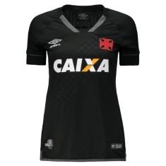 Camisa Torcedor Feminina Vasco da Gama III 2017 18 Umbro 1427f3eb13d71