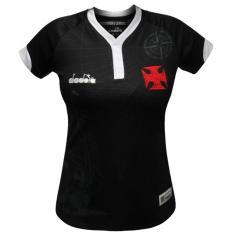 Camisa Torcedor Feminina Vasco da Gama III 2018 19 Diadora 02c6bb08c7172