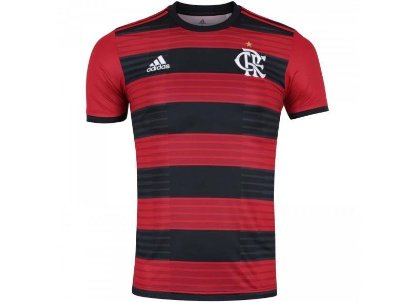 6cfb37d69db27 Camisa Flamengo I 2018 19 Torcedor Masculino Adidas