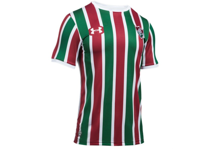 Camisa Fluminense I 2017 18 Torcedor Masculino Under Armour fdf418f6a1a9b