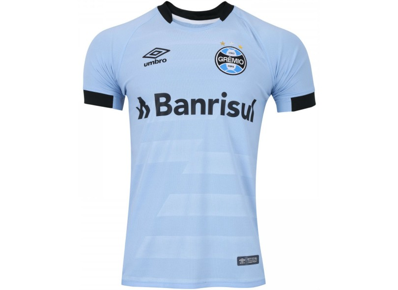 Camisa Grêmio II 2017 18 Com Número Torcedor Masculino Umbro fc39312dab5b2