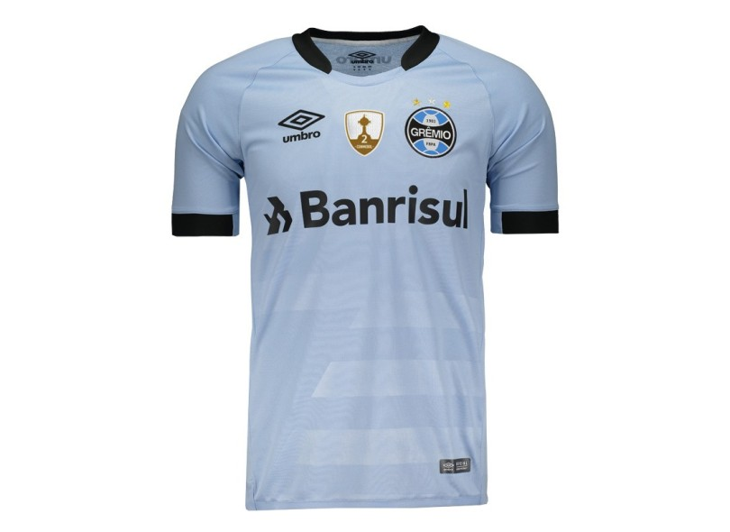 Camisa Grêmio II 2017 18 Sem Número Torcedor Masculino Umbro 0581997522ec4