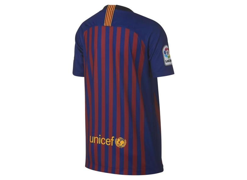 Camisa Infantil Barcelona I 2018 19 Torcedor Infantil Nike 877323aeca320