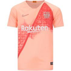 Camisa Torcedor infantil Barcelona III 2018 19 Nike 32d69f7b38586