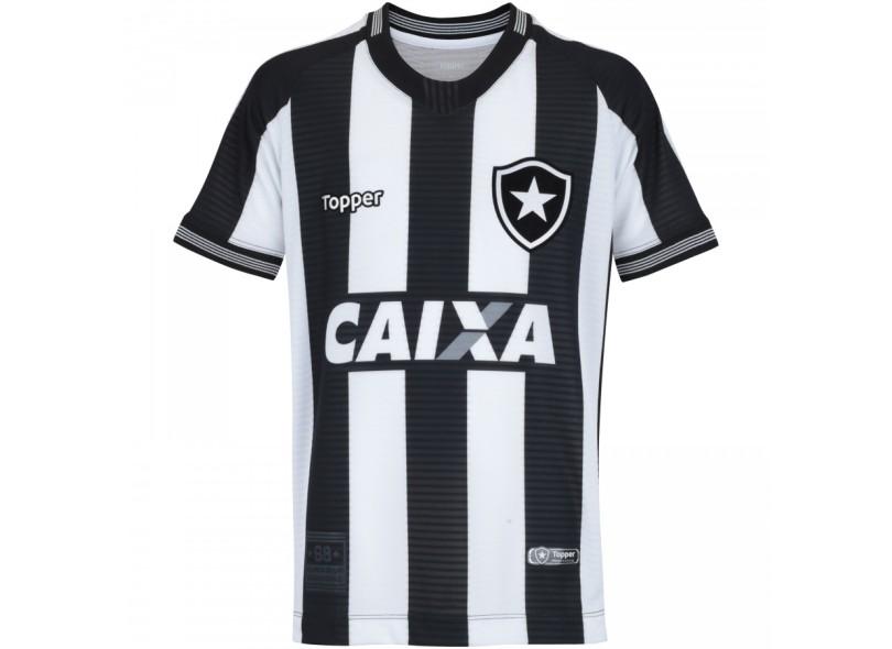 Camisa Infantil Botafogo I 2018 19 Torcedor Infantil Topper 62c28137f96fd
