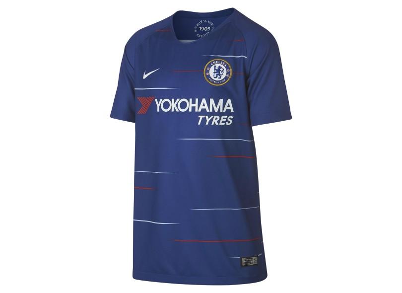 Camisa Infantil Chelsea I 2018 19 sem Número Torcedor Infantil Nike a40bd738c2784
